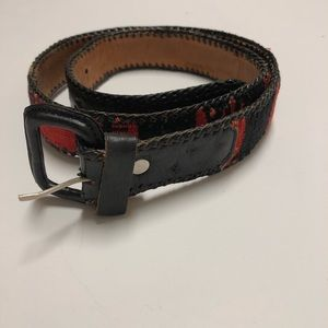 🤩AZTEC style  black and red Guatemalan belt SZ 32